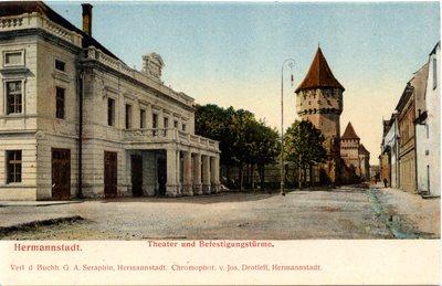 Hermannstadt. Theater und Befestigungsturme