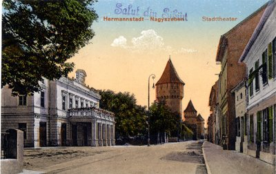 Hermannstadt - Nagyszeben. Stadttheater