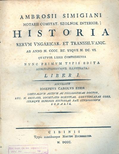 Scriptores RERVM TRANSSILVANARVM