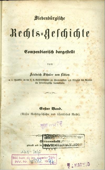 Siebenbürgische Rechts-Geschichte - Compendiarisch dargestellt
