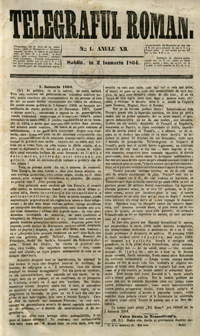 Telegraful Român - 1864 (Ianuarie - Iunie)