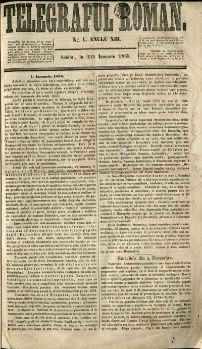 Telegraful Român - 1865 (Ianuarie-Iunie)