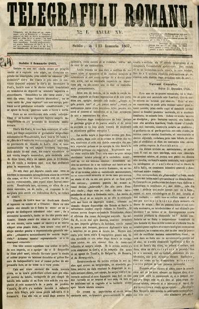 Telegraful Român - 1867 (Ianuarie-Iunie)