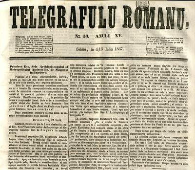 Telegraful Român - 1867 (Iulie - Decembrie)