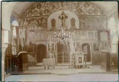 Interiorul bisericii gr.-or. rom. din Sibiu