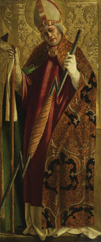 Hl. Erasmus oder hl. Thiemo? (Innenseite) und hl. Bischof (Martin?) (Außenseite)