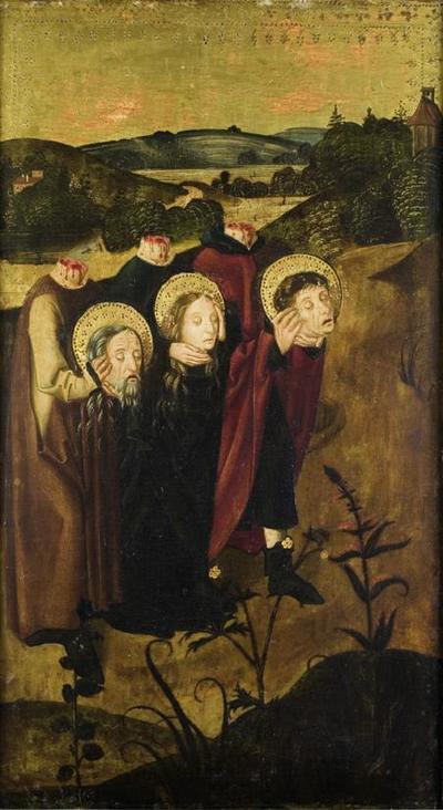 Die Hll. Felix, Regula und Exuperantius mit ihren abgeschlagenen Häuptern