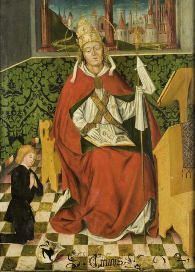 Hl. Cyriakus mit Stifter