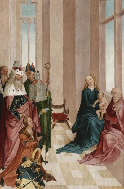 Votivtafel mit hl. Anna Selbdritt und den Heiligen Leopold, Ulrich und Andreas