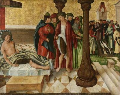 Wunderbare Beinheilung durch die Hll. Cosmas und Damian