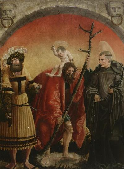 Hll. Achatius, Christophorus und Leonhard