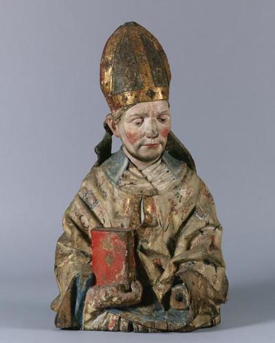 Halbfigur eines hl. Bischofs