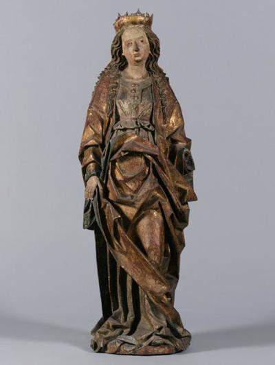 Weibliche Heilige (hl. Katharina?)