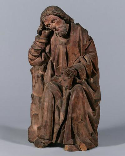 Schlafender Apostel einer Ölberggruppe