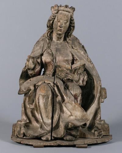 Sitzende Maria einer Verkündigung