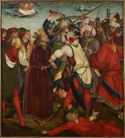 Martyrium des hl. Oswald in der Schlacht