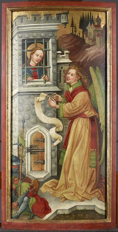Der Engel bei der gefangenen hl. Katharina