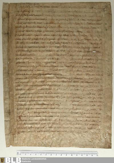 Homiliarii Karoli M partis hiemalis II, VI-VIII, Fragment - Aug. Fr. 85