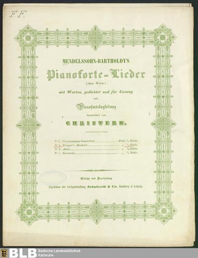 Krieger's Abschied (Mendelssohn-Bartholdy's Pianoforte-Lieder (ohne Worte), 2)