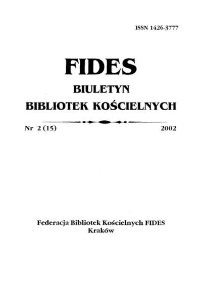 Fides : biuletyn bibliotek kościelnych. 2002, nr 2. Część urzędowa (s. 3-12)