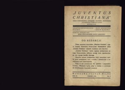 Iuventus Christiana : organ Stowarzyszenia Młodzieży Akademickiej Iuventus Christiana. R. 3 (1932), nr 2