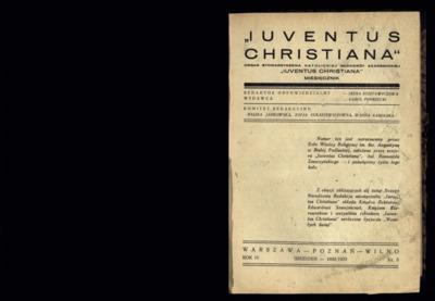 Iuventus Christiana : organ Stowarzyszenia Młodzieży Akademickiej Iuventus Christiana. R. 4 (1932/1933), nr 3