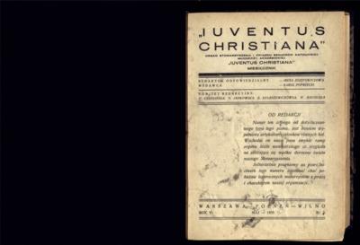 Iuventus Christiana : organ Stowarzyszenia Młodzieży Akademickiej Iuventus Christiana. R. 5 (1933), nr 5