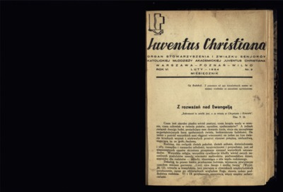 Iuventus Christiana : organ Stowarzyszenia Młodzieży Akademickiej Iuventus Christiana. R. 6 (1934), nr 2