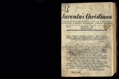 Iuventus Christiana : organ Stowarzyszenia Młodzieży Akademickiej Iuventus Christiana. R. 6 (1934), nr [?]