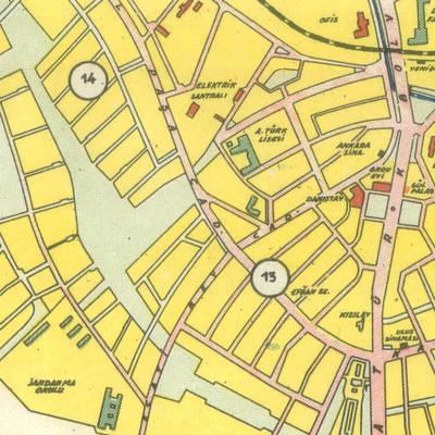 Çeşitli Kültür, Sağlık, Eğitim ve Konaklama Merkezlerini Gösteren Ankara Haritası
