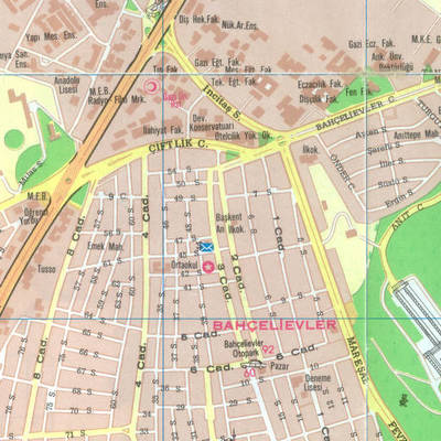 Ankara'nın turistik yerleşim planı