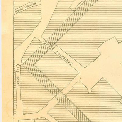 E. Mamboury tarafından hazırlanan Roma Augustus Tapınağı ve Bizans Akropolü planı