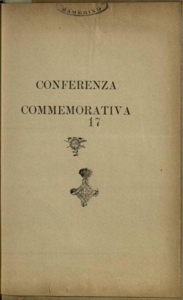 Conferenza commemorativa  / Maria Cardona!
