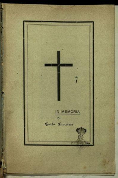 In memoria di Carlo Lucchesi