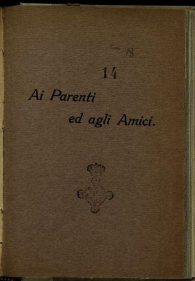 Brani di lettere alla famiglia e diario di guerra  / Bruno Andreoli