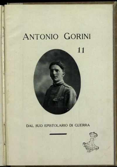 Dal suo epistolario di guerra  / Antonio Gorini