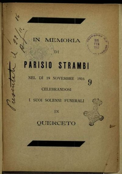 In memoria di parisio Strambi, nel d