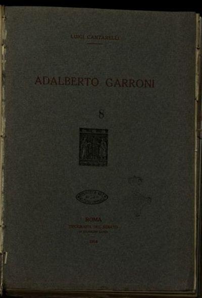 Adalberto Garroni  / Luigi Cantarelli