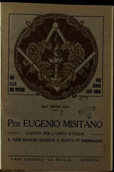 Per Eugenio Misitano caduto per l'Unit