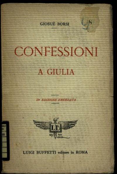 Confessioni a Giulia  / Giosu