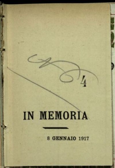 Alla cara memoria del tenente Romeo Gennari, n. a Pesaro il 12 marzo 1891 m. a Vertoyba inferiore l'8 dic. 1916