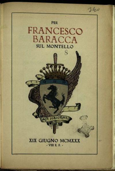 Per Francesco Baracca sul Montello  : 19 giugno 1930, 8