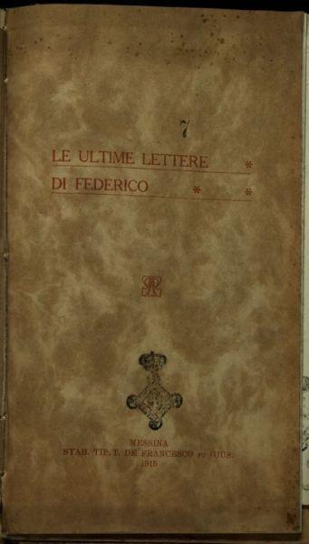 Le *ultime lettere di Federico