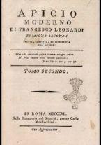 [Apicio moderno di Francesco Leonardi edizione seconda revista, corretta, ed accresciuta dall'autore. Tomo primo [-sesto]] 2