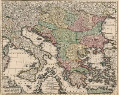 Theatrum belli sive novissima tabula qua maxima pars Danubii et praeserti Hungaria cum aliis adiacentibus regnis... / a Matthaeo Seutter.