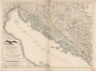 Carta novissima della Dalmazia, Albania, Croazia, Bosnia / delineata da Gioanni Antonio de Capellaris.