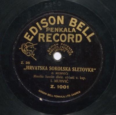 Hrvatska sokolska sletovka / I. [Ivo] Muhvić ; [izvodi] Muzika Savske diviz. [divizijske] oblasti v. kap. I. [Ivo] Muhvić.