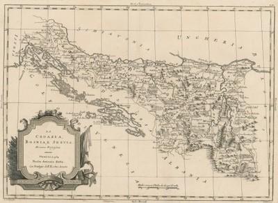 La Croazia, Bosnia, e Servia : di nuova projezione / Giuliano Zuliani ; Giovanni Marco Pitteri.