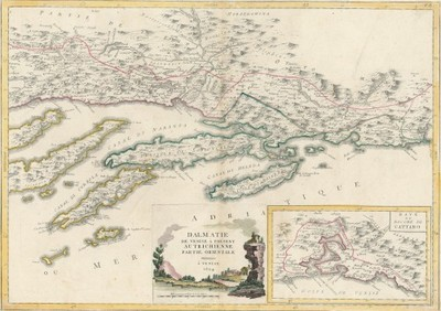 Dalmatie de Venise a present Autrichienne : partie orientale / [Antonio Zatta].