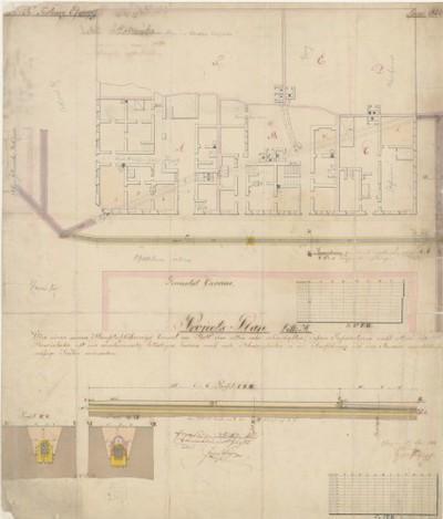 K. K. Festung Essegg. Project Plan Litt. A über einen neuen Hauptabführungs Canal an Statt... / J. Mayer.